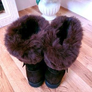 JUST IN! Weitzman Rabbit Fur Boots